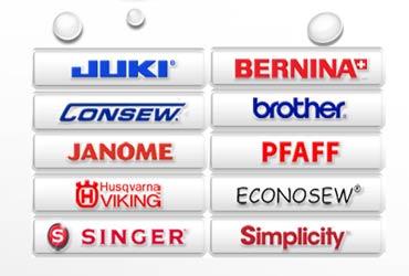 sewing machine brands logo